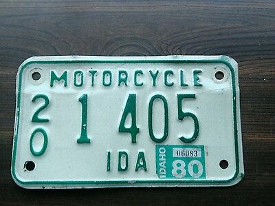 1980 Idaho motorcycle license plate from owyhee county