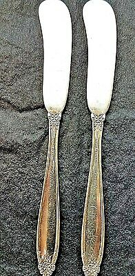 """TWO (2) Vintage  Sterling Silver Butter Knives  5 3/4"""" Prelude by International"""