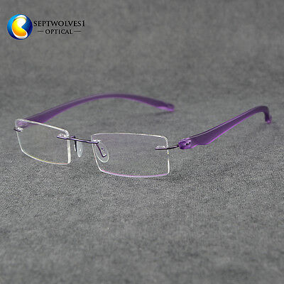 97813f198f0 Fashion Women s Ultra Light TR90 Rimless Eyeglasses Frames Optical RX Able