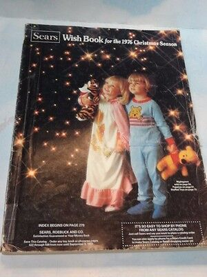 RARE Sears Christmas Wishbook Catalog 1976 Lots of Toys & Colored pages*