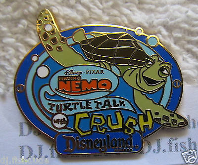 Disney Pin CRUSH Turtle Talk   Finding Nemo  AAA Travel Vacation Co.