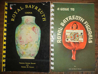 2 Vintage Rare Antique Royal Bayreuth Figurals Art Pottery Fine China Guides
