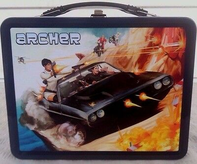 RARE! ARCHER Secret Agent Spy TV Metal Lunch Box & Thermos MINT! OUT OF PRINT!