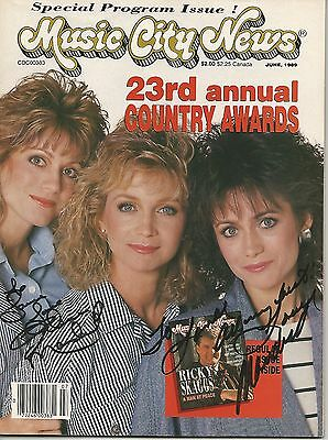 The Mandrell Sisters hand signed Music City News magazine, with COA