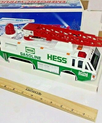 Hess Toy Emergency Truck 1996 New In Box Gasoline oil company service station