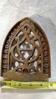 (Used) Antique Ferrosteel Clevland SAD Cast Iron Trivot Iron Rest
