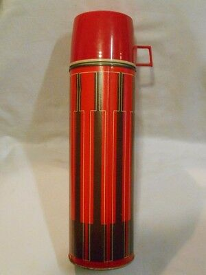 """Vintage Thermos     Metal     Cup & Stopper     13.5 """" Tall     See Condition"""