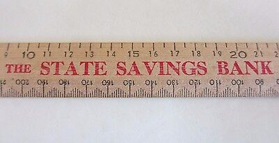 Vintage Wooden Ruler & Calendar - The State Savings Bank of Victoria - 1973