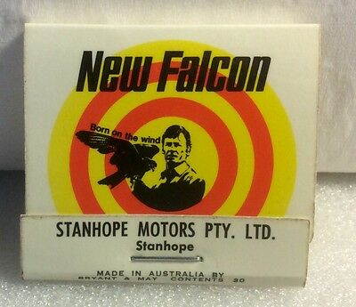 Falcon Matches. Ford Falcon Matchbook. Born On The Wind.
