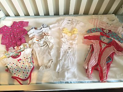 Bulk Small Baby Girls Clothes 27 Items (Premature/00000)