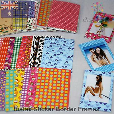2 SETS of 20 of mixed sticker frames for Fujifilm INSTAX MINI Photos - 11 STYLES
