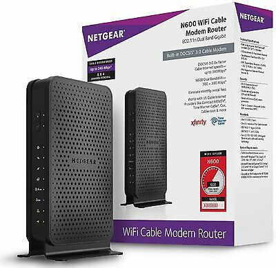 NETGEAR C3700 N600 Wireless WiFi Docsis 3.0 Cable Modem Router ✔NEW✔