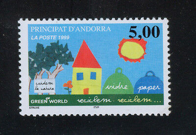 ANDORRA FRENCH 1999 MNH SC.505 Recycling