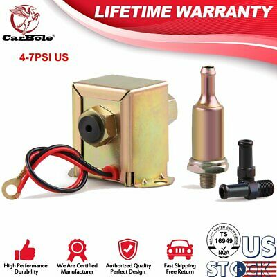 12V Universal Low Pressure Gas Oil Electric Petrol Diesel Fuel Pump 4-7PSI US
