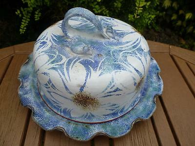 Redhouse Studio Pottery Large Cheese Dome Mouse on Lid Excellent Condition