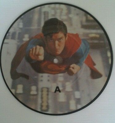 """Superman 1 - Original Theme Song - 7"""" Picture Disc NEVER PLAYED."""