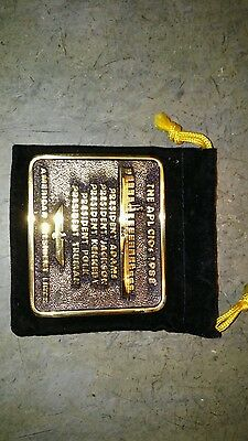Mercha,t Marine Shipping Container Solid Brass Plaque 1988