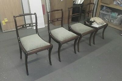 Antique regency dining chairs