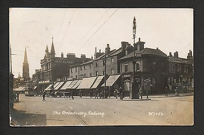 Ealing - The Broaway - real photographic postcard