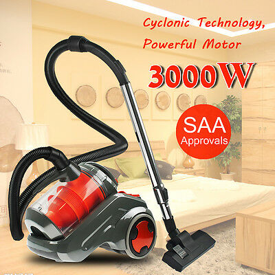 3000W Bagless Cyclonic Vacuum Cleaner Non HEPA Efficient Suction Dust Absorb New