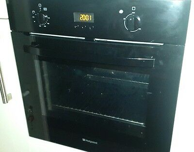 Used Hotpoint Newstyle Electric Fan Single Built-in Oven - SH 33 K S - Black