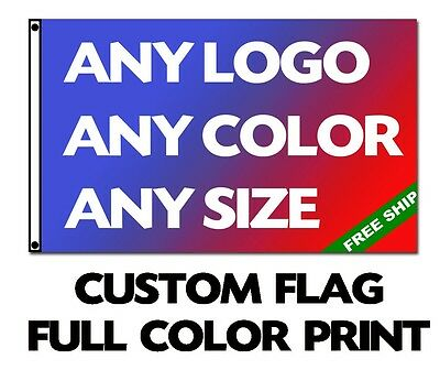 2X3 CUSTOM FABRIC FULL COLOR FLAG Boat Car Match School Company Festival Banner