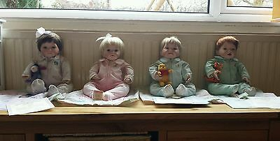 The Ashton Drake Doll Collection Limited Edition Winnie The Pooh Dolls X4