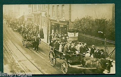 HOP PICKERS HORSE DRAWN PROCESSION NO 14 BY NAYLAR ROCHESTER,vintage postcard