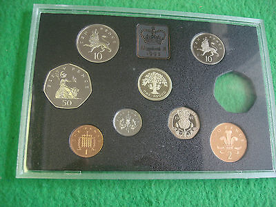 1992 UK ROYAL MINT PROOF COIN COLLECTION EEC 50P MISSING + coa