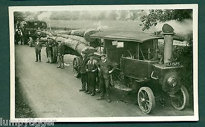 STEAM TRACTION ENGINES WITH LOAD,TAYLOR BROS,BILSTON,plain back card.