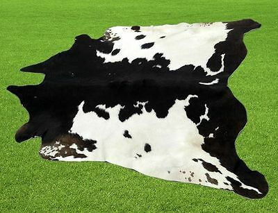 """New Cowhide Rugs Area Cow Skin Leather  (49""""x 51"""") Cow hide LWP-9602"""