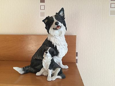 COUNTRY ARTISTS Figure of BORDER COLLIE & PUP