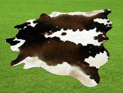 """New Cowhide Rugs Area Cow Skin Leather  (47"""" x 46"""") Cow hide LWP-9634"""