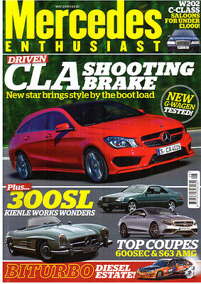 Mercedes Enthuisast 5/15   CLA Shooting Brake   W202 C Class Buyers Guide