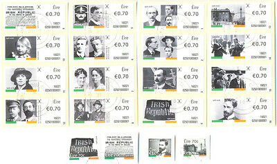 Ireland-Easter Rising 1916-2016 complete set fine used(20)-military