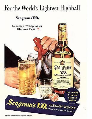 1940 seagrams VO ad for the worlds lightest highball