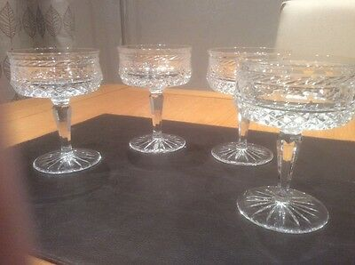 Galway Crystal Champagne Glasses x 4