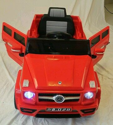 Brand New RED SUV Mercedes toy ride on kids battery electric remote control mp3