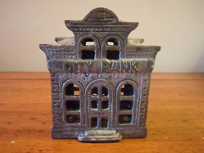 Antique Cast Iron CITY BANK, with Director's Room on Top/ Chamberlain & Hill