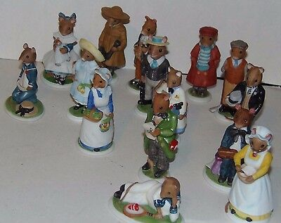 WOODMOUSE FITZ & FLOYD FIGURINES LOT of 15