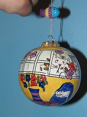 cat and fish ornament bulb with fish decor