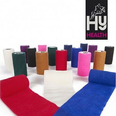 5 or 10 Hyhealth Sportwrap Assorted 10cm x 4.5m Cohesive bandage Horse First Aid