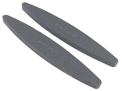 "2 x OVAL BOAT SHAPED 9"" Sharpening Stone Scythe Scissor Blade Axe Sharpener Tool"