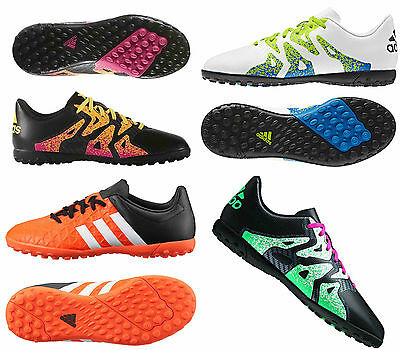 Adidas Boys Kids Ace 15.4 X Tf Football Trainers Astro Turf Sports Boots Shoes