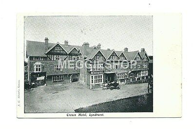Hampshire: New Forest : Lyndhurst : Crown Hotel 1907 Postcard