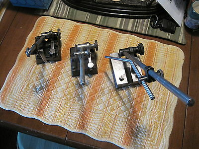 INDICATOR HOLDERS - Lot of 3 - With Jointed Arms & Rods