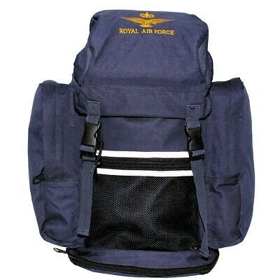 Raf Royal Air Force  Backpack Rucksack Bag Blue Genuine Army Hiking Travel