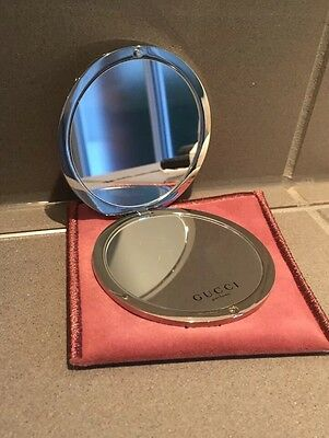 Gucci Bamboo Compact Mirror Boxed With Pouch New!