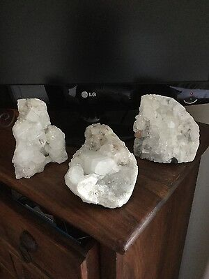 Natural  Cluster Quartz Crystals x3 From India / 2.5 kg Approx / Stunning