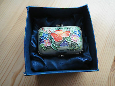 Old Tupton Ware Trinket/pill Box In Box Hand Painted Floral